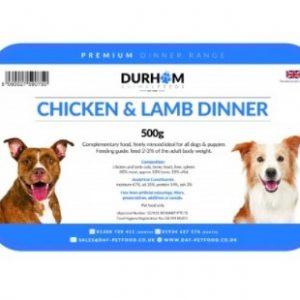Chicken & Lamb Dinner with fruit & veg