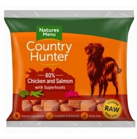 Country Hunter Raw Nuggets, chicken & Salmon with superfoods