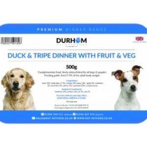 Duck & tripe Dinner with fruit & veg